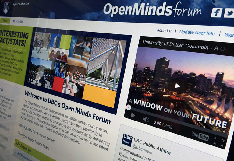 UBC Open Minds Forum consists of 3500 students and 1500 alumni.