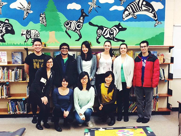 Selkirk Annex Elementary team of volunteers. Photo credit: Clare Yow