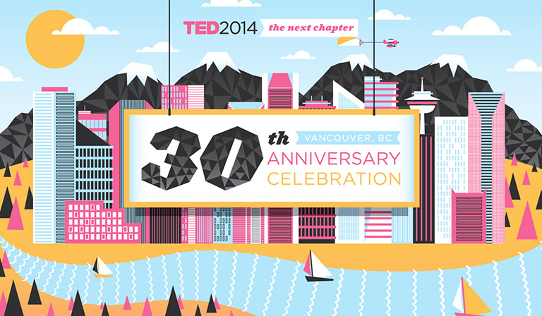 The event was held downtown at the Vancouver Convention Centre. Photo credit: TED 2014